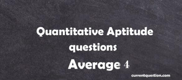 Quantitative Aptitude Questions