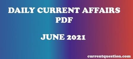 DAILY CURRENT AFFAIRS PDF IN HINDI