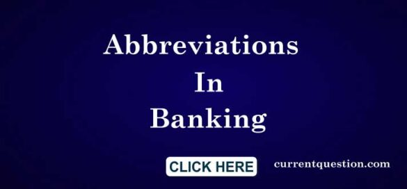 Abbreviations In Banking